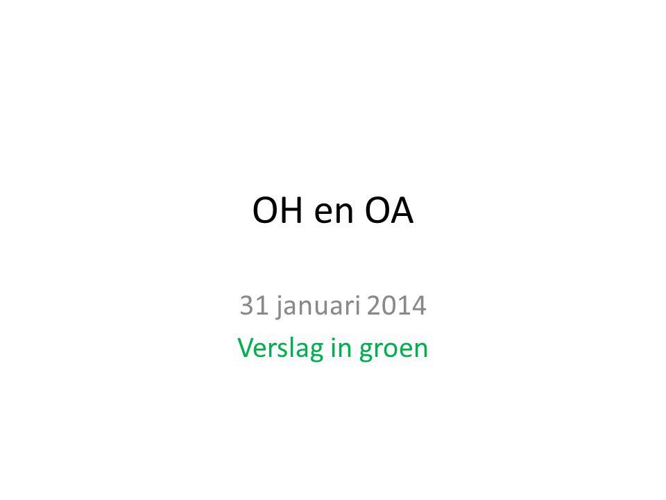 31 januari 2014 Verslag in groen