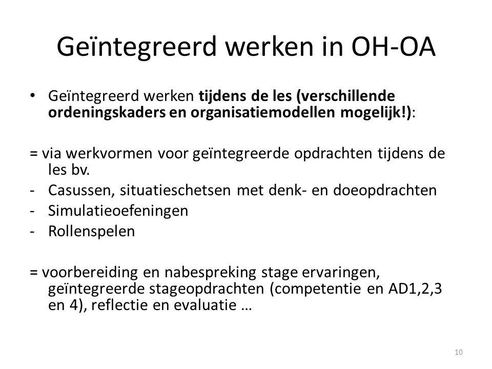 Geïntegreerd werken in OH-OA