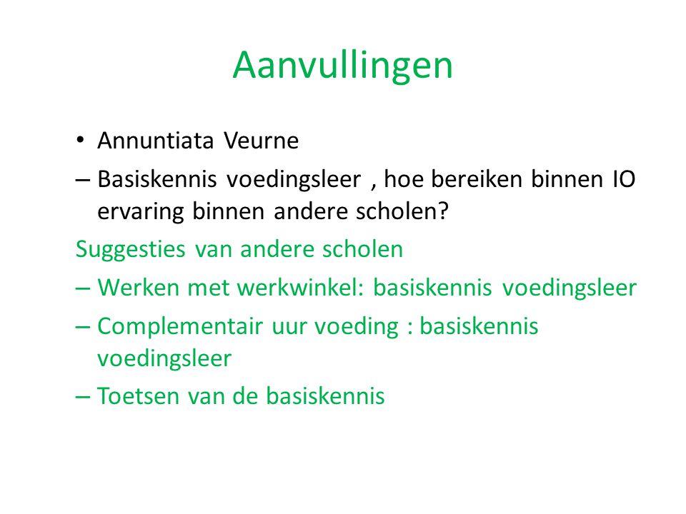 Aanvullingen Annuntiata Veurne
