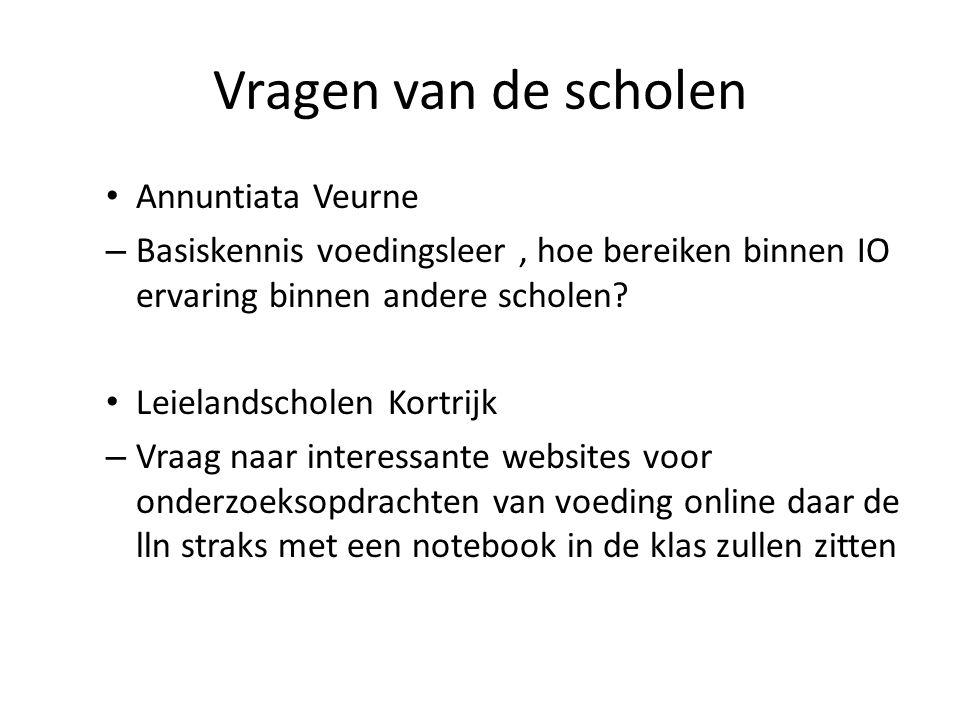 Vragen van de scholen Annuntiata Veurne