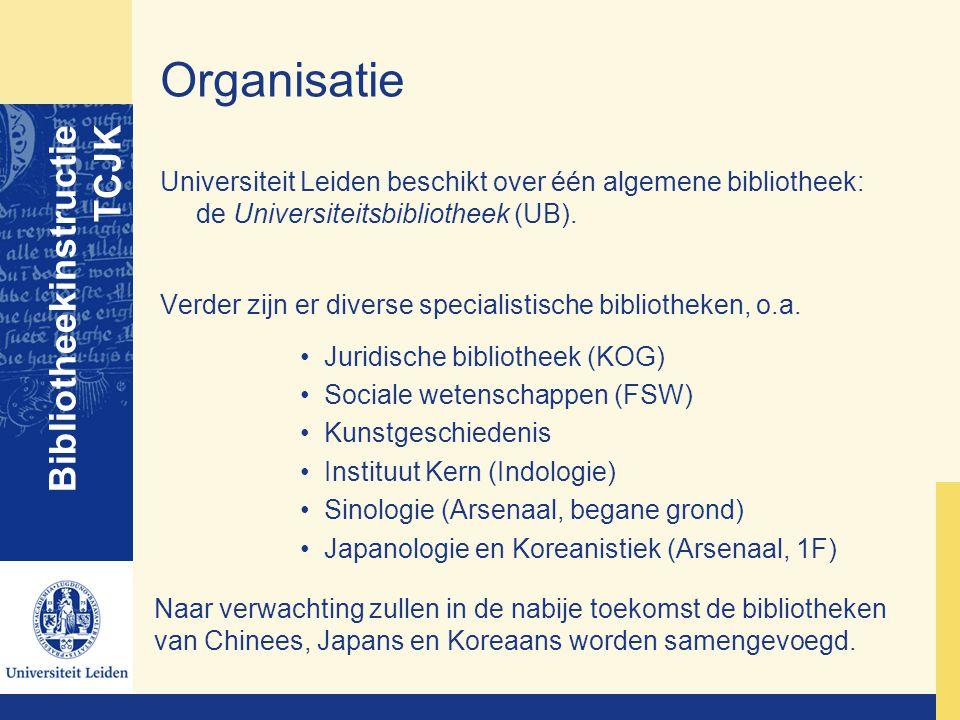 Organisatie Bibliotheekinstructie TCJK