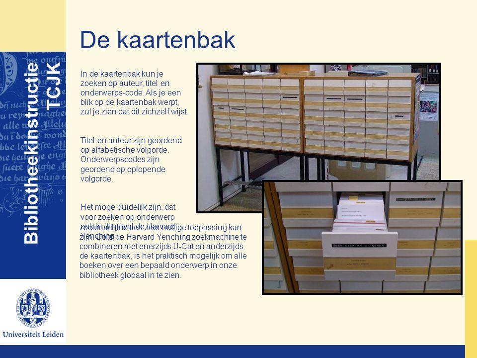 De kaartenbak Bibliotheekinstructie TCJK