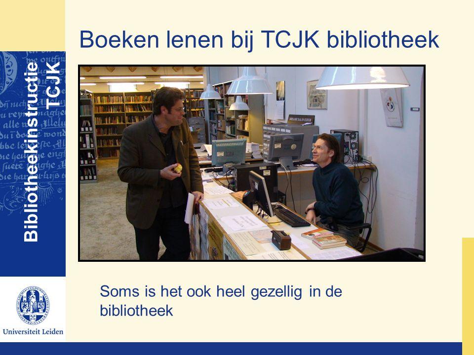 Boeken lenen bij TCJK bibliotheek