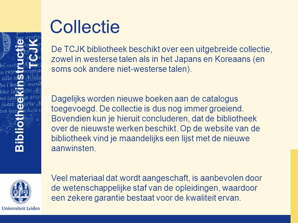 Collectie Bibliotheekinstructie TCJK