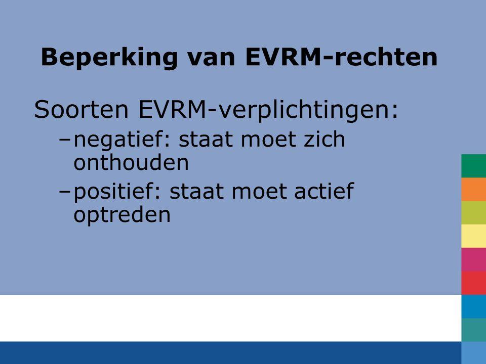 Beperking van EVRM-rechten
