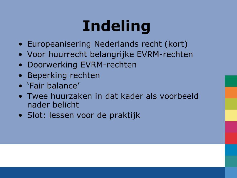Indeling Europeanisering Nederlands recht (kort)