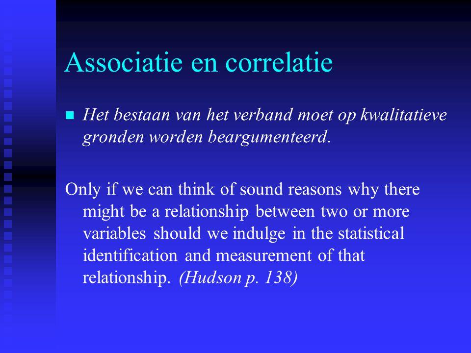 Associatie en correlatie