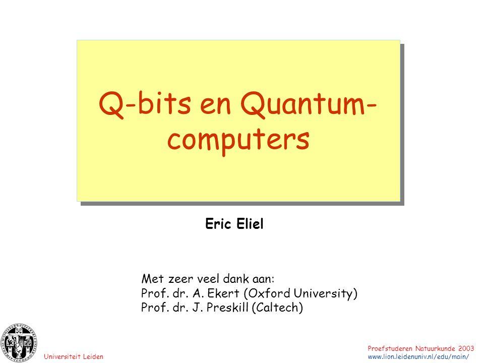 Q-bits en Quantum-computers