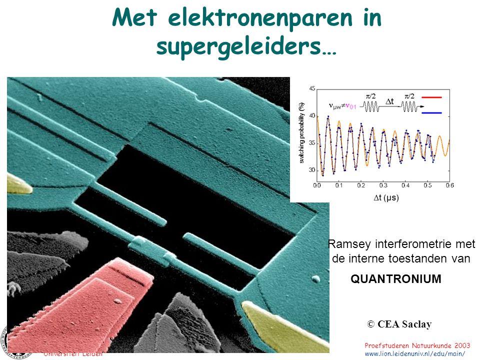 Met elektronenparen in supergeleiders…