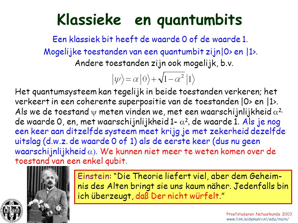 Klassieke en quantumbits