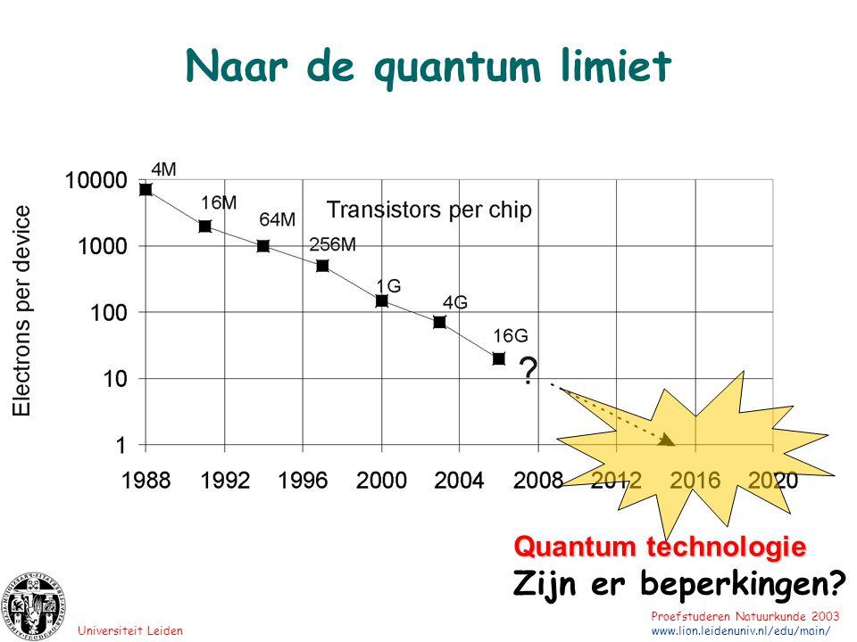 Naar de quantum limiet Quantum technologie Zijn er beperkingen