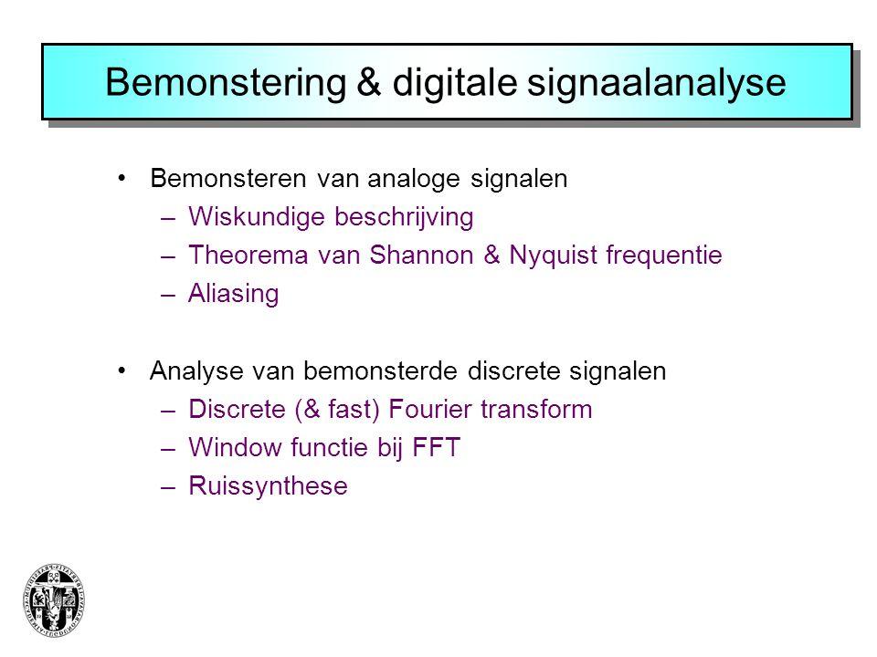 Bemonstering & digitale signaalanalyse