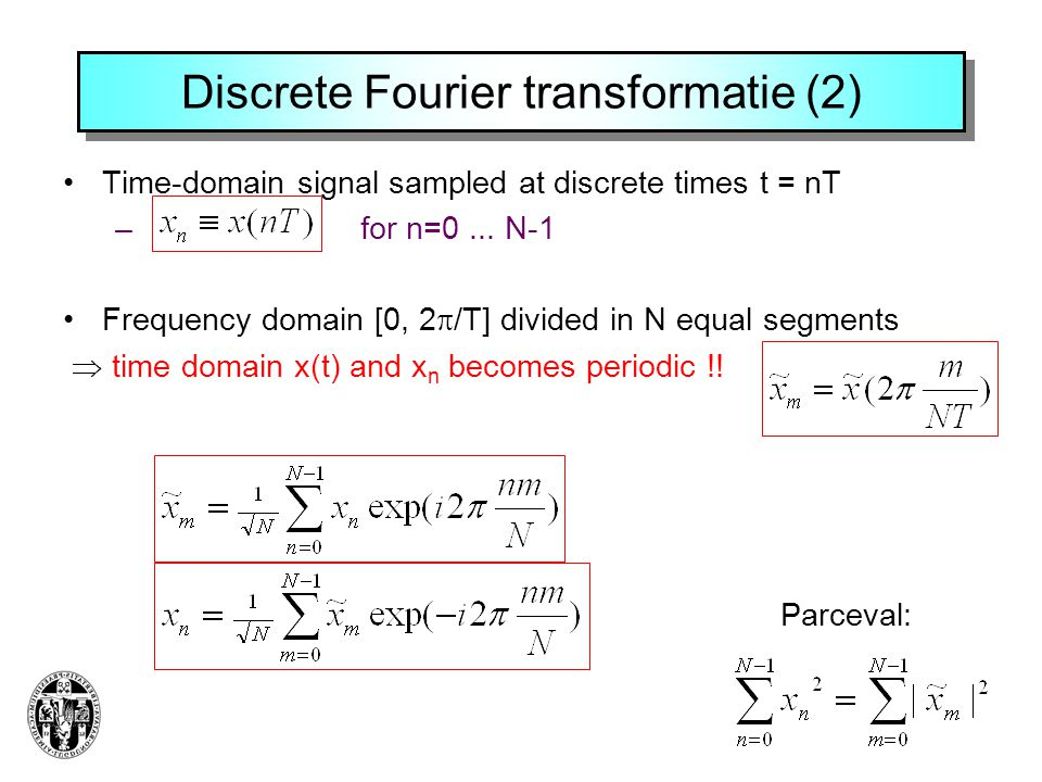 Discrete Fourier transformatie (2)