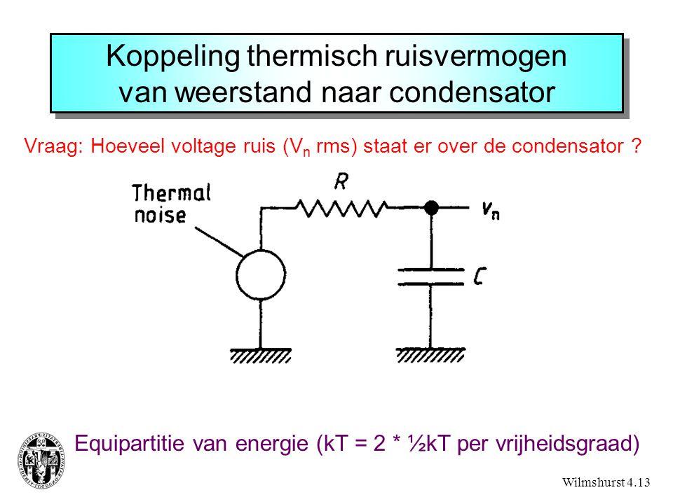 Koppeling thermisch ruisvermogen van weerstand naar condensator