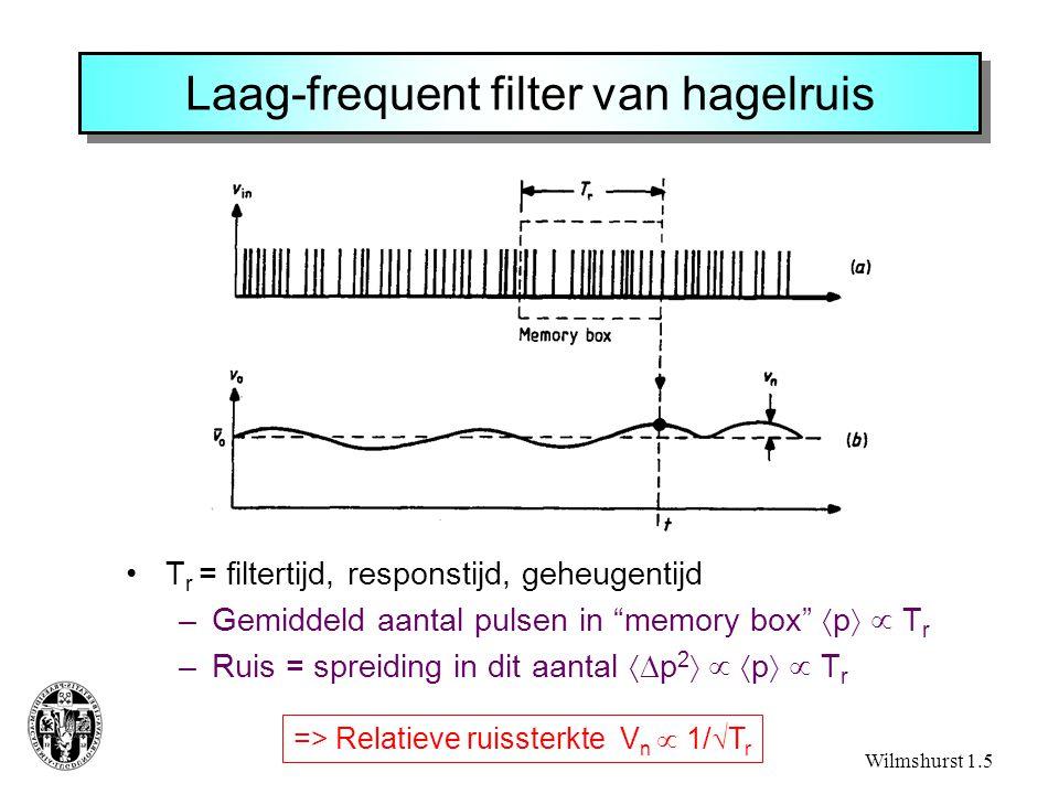 Laag-frequent filter van hagelruis