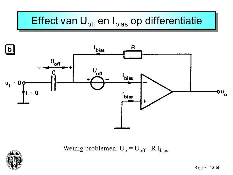 Effect van Uoff en Ibias op differentiatie
