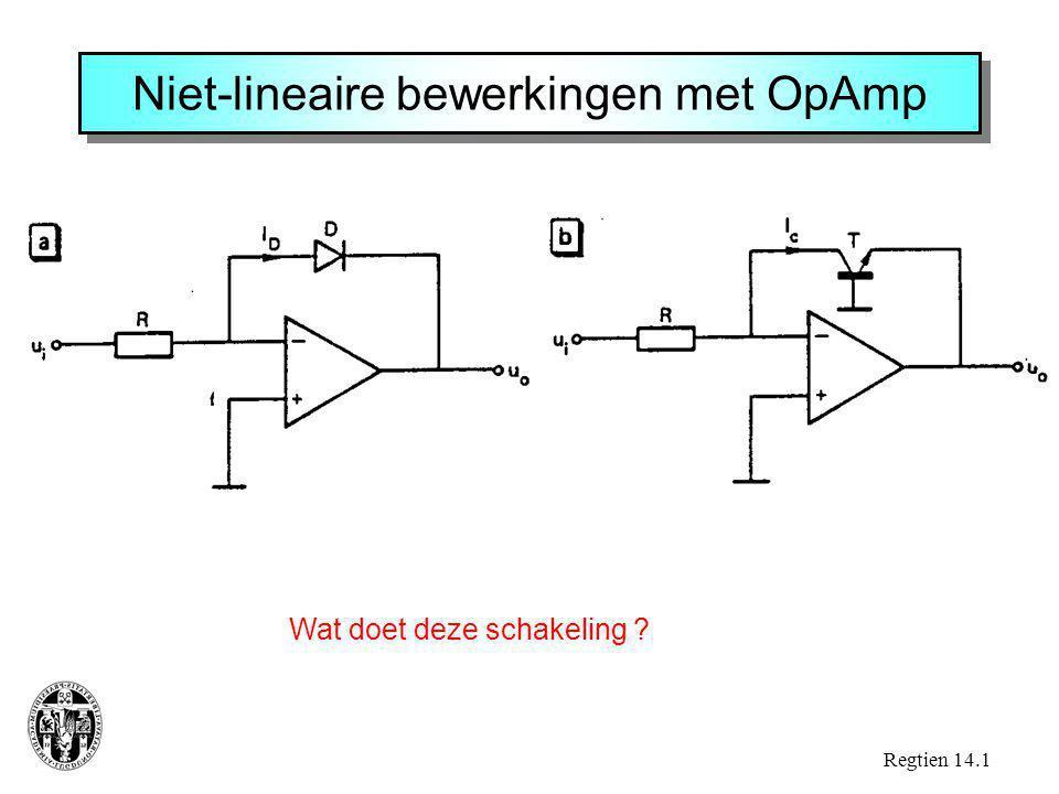 Niet-lineaire bewerkingen met OpAmp