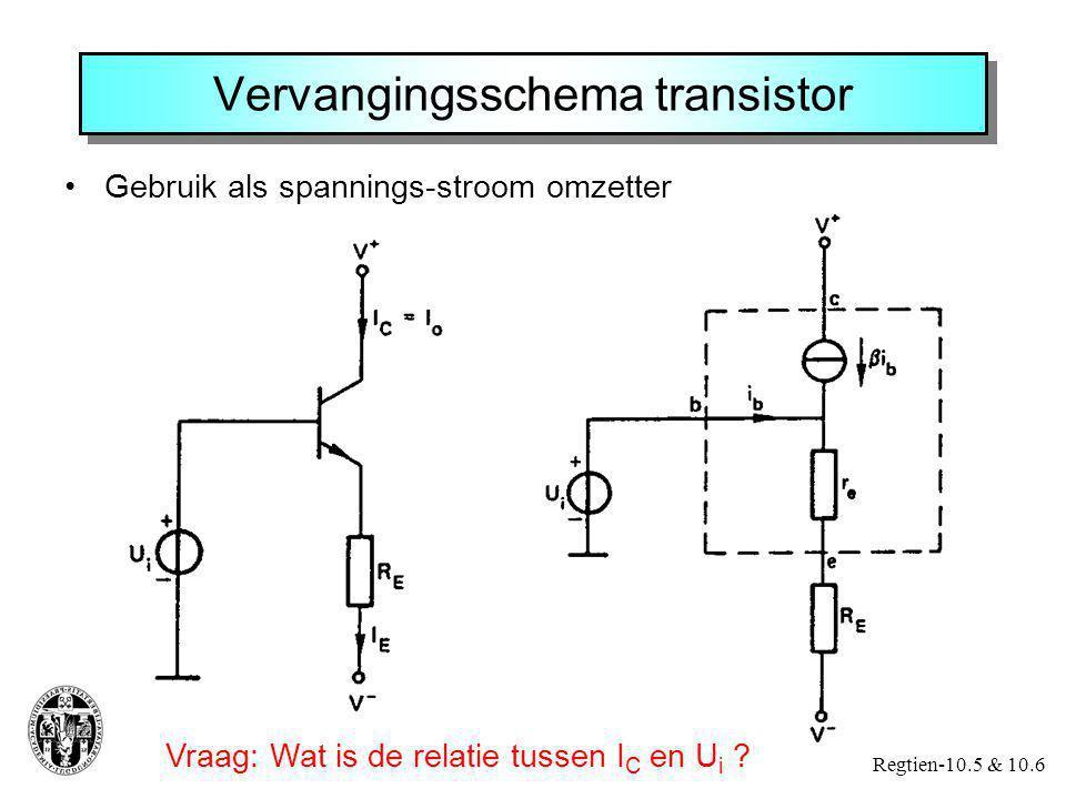 Vervangingsschema transistor
