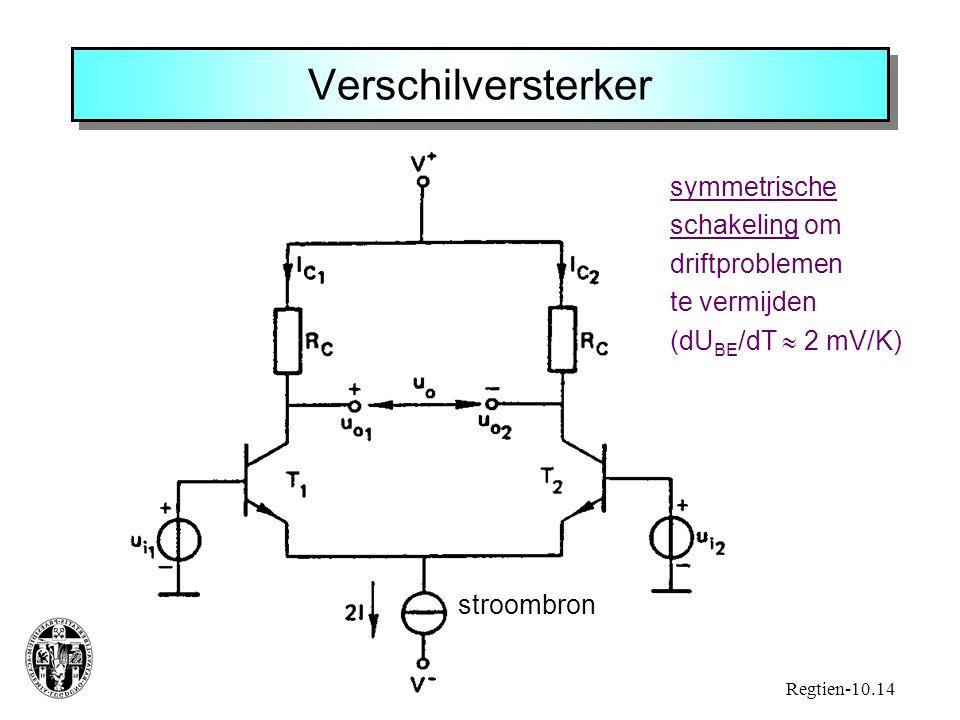 Verschilversterker symmetrische schakeling om driftproblemen