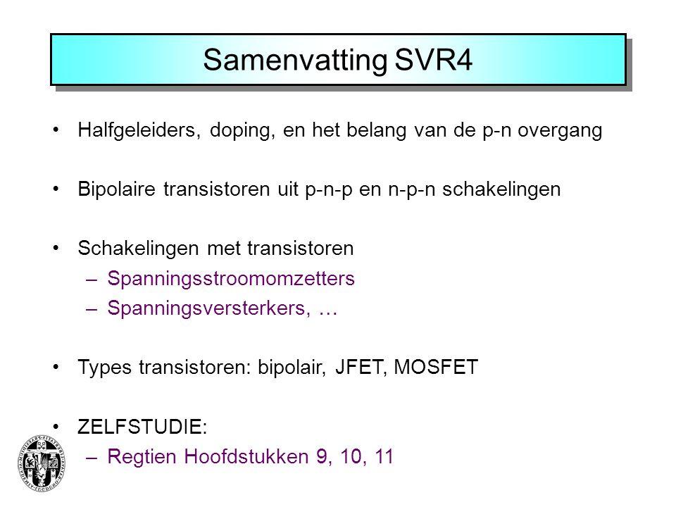 Samenvatting SVR4 Halfgeleiders, doping, en het belang van de p-n overgang. Bipolaire transistoren uit p-n-p en n-p-n schakelingen.