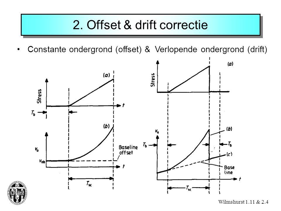 2. Offset & drift correctie