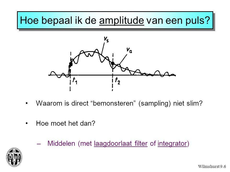Hoe bepaal ik de amplitude van een puls