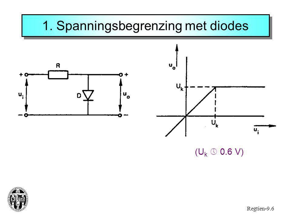 1. Spanningsbegrenzing met diodes