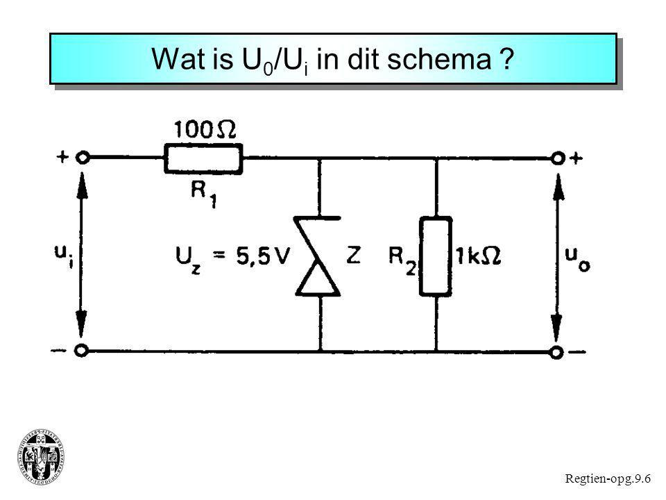 Wat is U0/Ui in dit schema