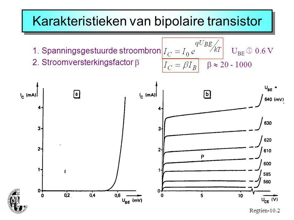 Karakteristieken van bipolaire transistor