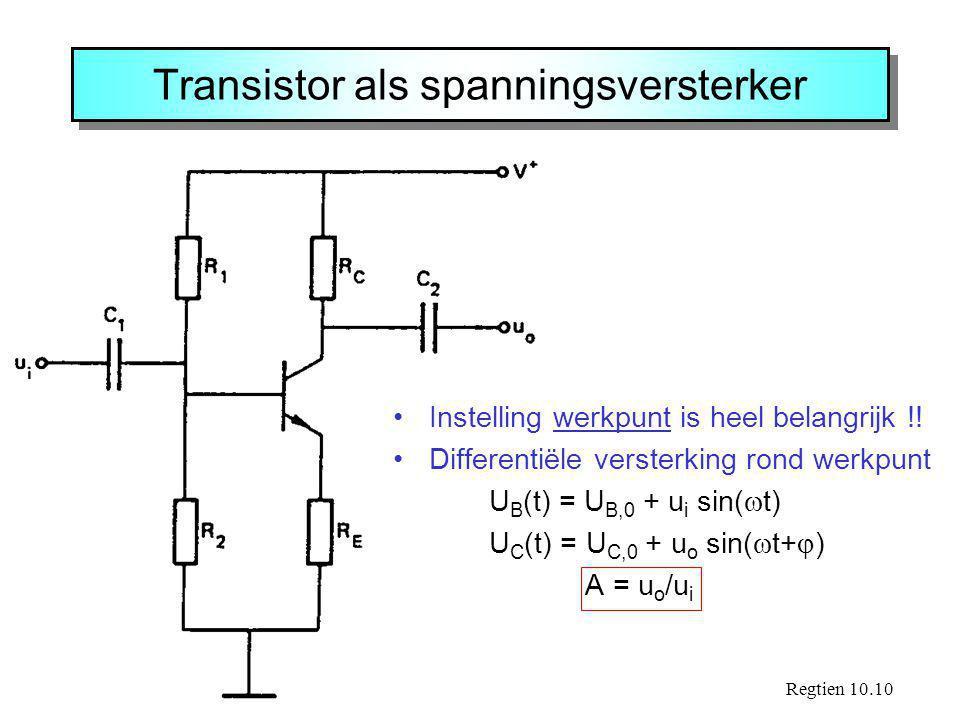 Transistor als spanningsversterker