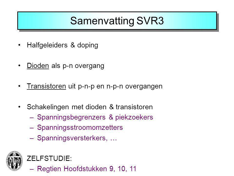 Samenvatting SVR3 Halfgeleiders & doping Dioden als p-n overgang