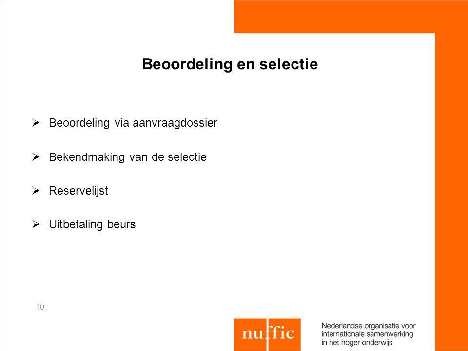 Beoordeling en selectie