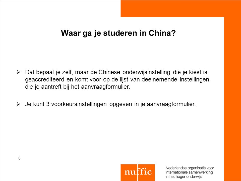 Waar ga je studeren in China
