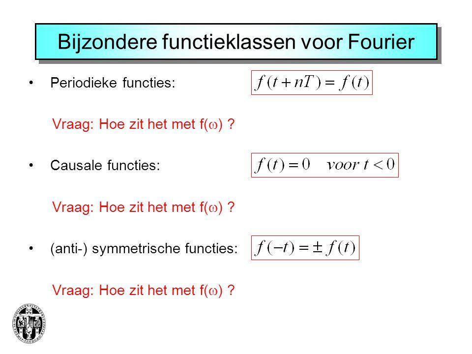 Bijzondere functieklassen voor Fourier