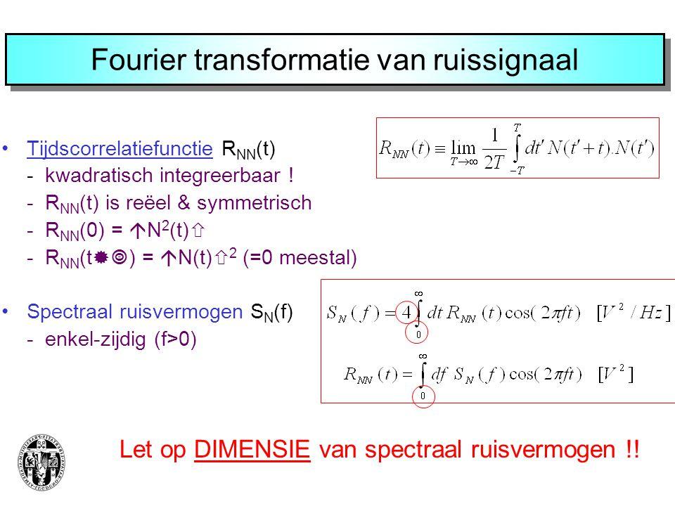 Fourier transformatie van ruissignaal
