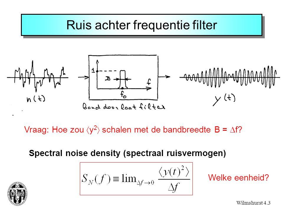 Ruis achter frequentie filter
