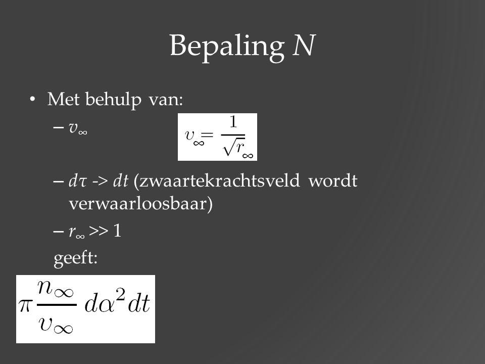 Bepaling N Met behulp van: v∞