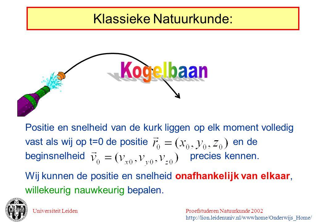 Klassieke Natuurkunde: