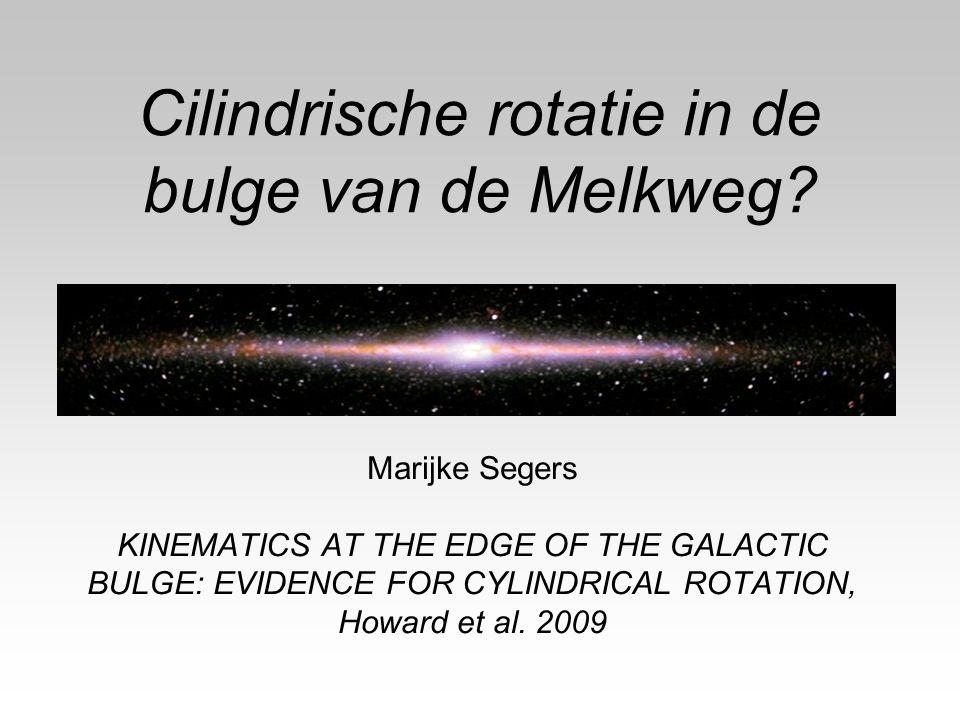 Cilindrische rotatie in de bulge van de Melkweg