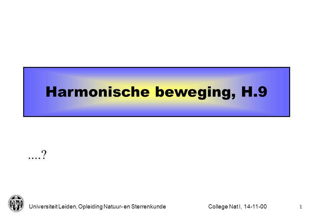 Harmonische beweging, H.9