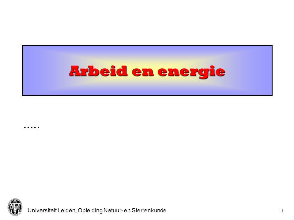 Arbeid en energie .....