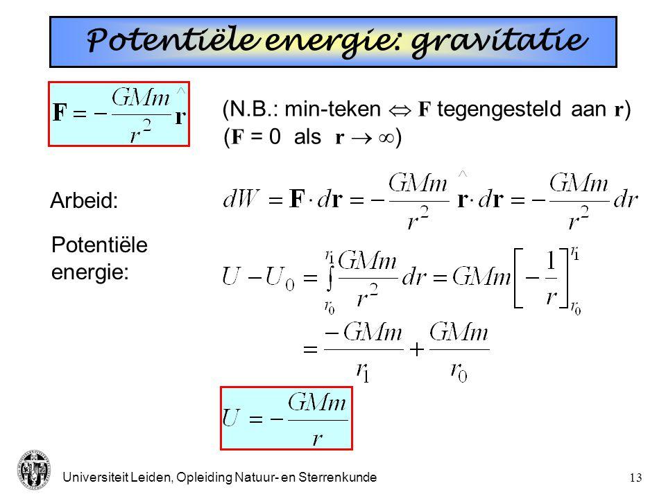 Potentiële energie: gravitatie