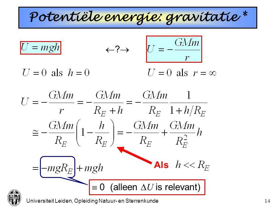 Potentiële energie: gravitatie *