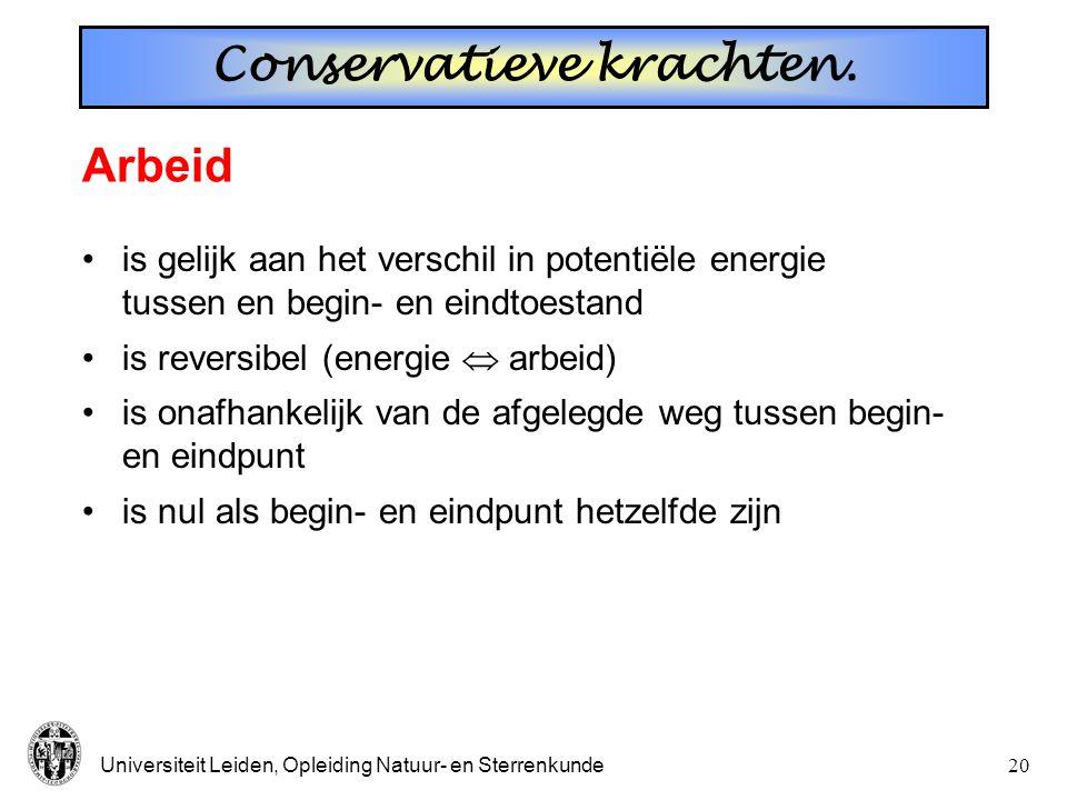Conservatieve krachten.