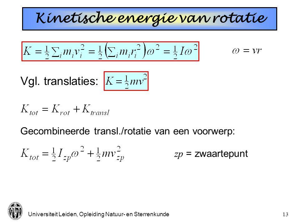 Kinetische energie van rotatie