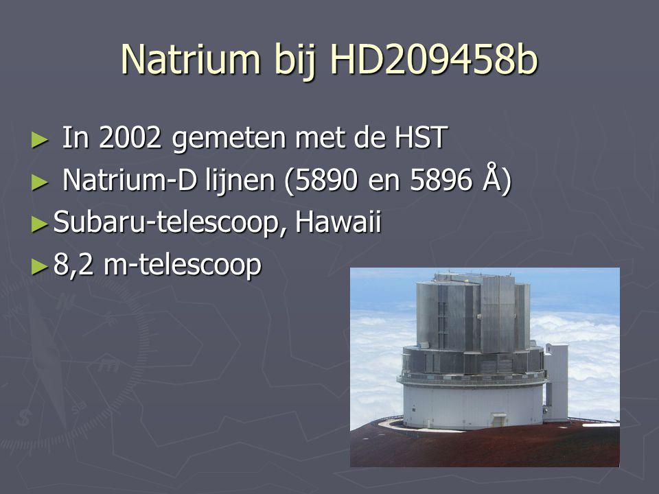 Natrium bij HD209458b In 2002 gemeten met de HST