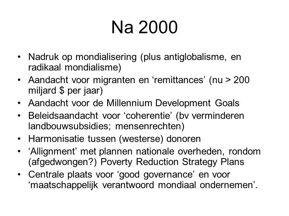 Na 2000 Nadruk op mondialisering (plus antiglobalisme, en radikaal mondialisme)