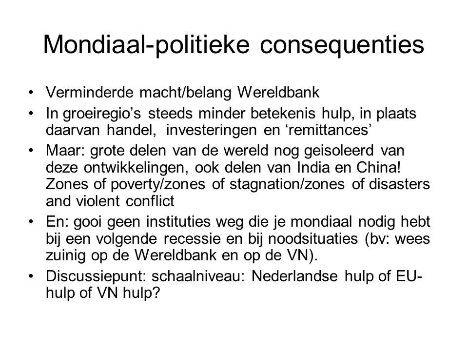 Mondiaal-politieke consequenties