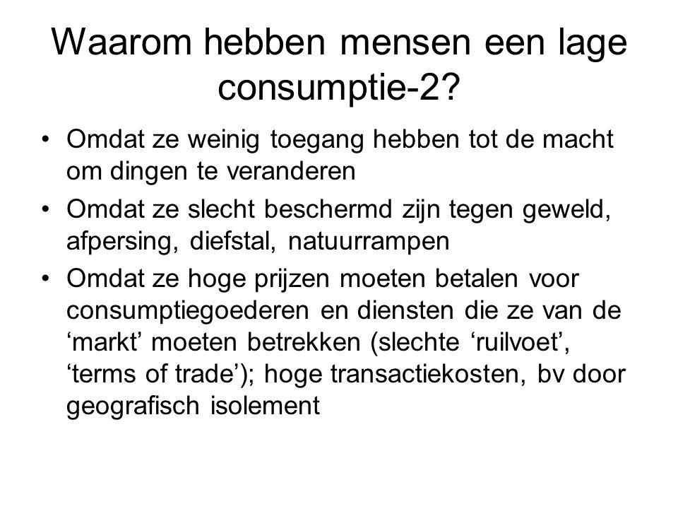 Waarom hebben mensen een lage consumptie-2