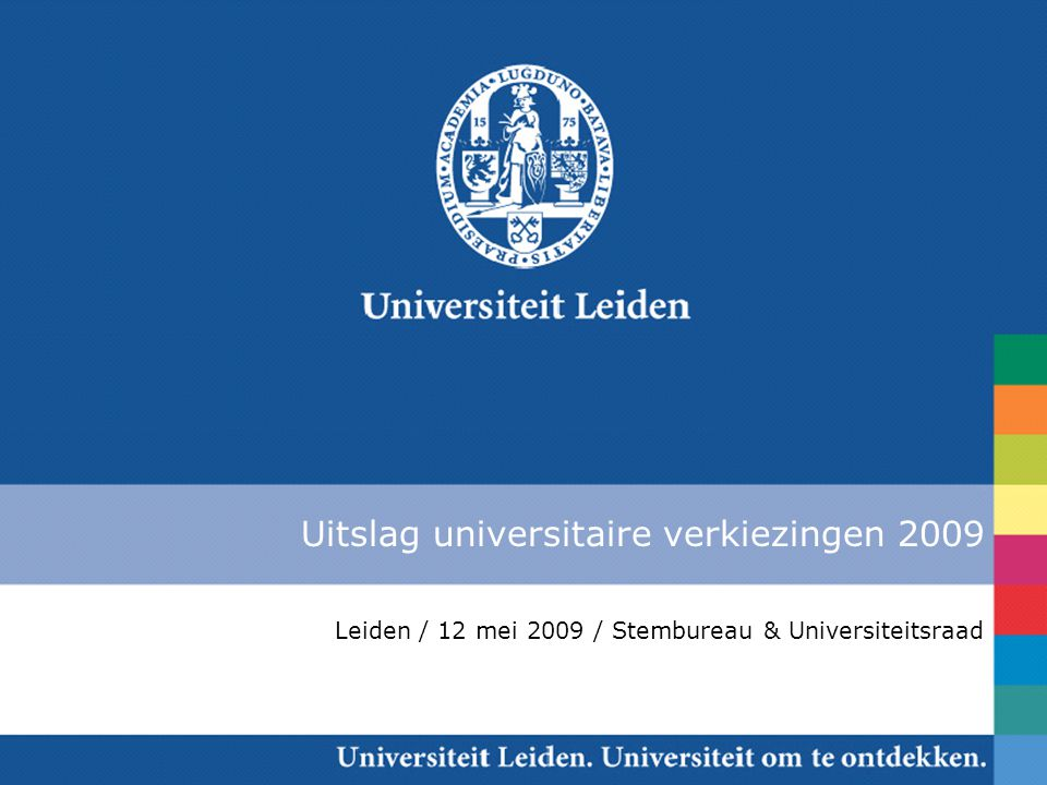 Uitslag universitaire verkiezingen 2009